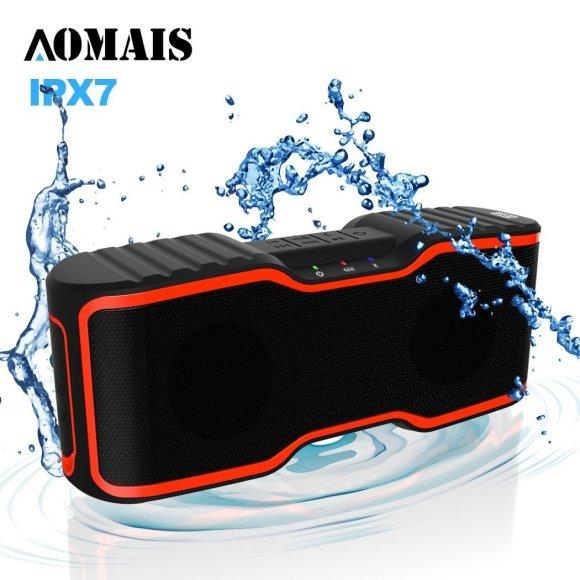Aomais Waterproof Ipx7 Wireless Bluetooth Speaker